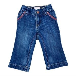 Old Navy Girls Butterfly Bootcut Blue Jeans